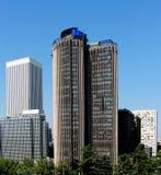 Paysage urbain de la partie moderne de Madrid, Espagne Photographie stock