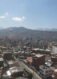 Paysage urbain de La Paz, Bolivie Image stock