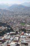 Paysage urbain de La Paz, Bolivie Photographie stock libre de droits