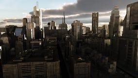Paysage urbain de la science-fiction images libres de droits