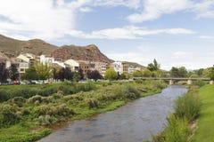 Paysage urbain de la ville de Najera, La Rioja, Espagne Images libres de droits