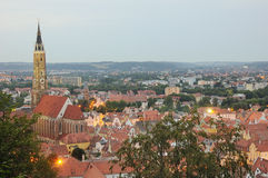 Paysage urbain de Landshut Images stock
