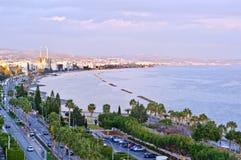 Paysage urbain de Limassol Photos libres de droits