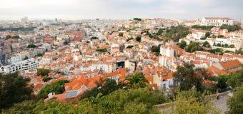 Paysage urbain de Lisbonne Images libres de droits