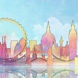 Paysage urbain de Londres Images stock