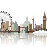 Paysage urbain de Londres Images libres de droits