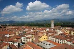 Paysage urbain de Lucca Images libres de droits