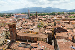 Paysage urbain de Lucca Photo stock