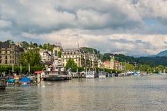 Paysage urbain de Luzerne, Suisse photographie stock
