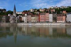 Paysage urbain de Lyon Photo libre de droits