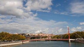 Paysage urbain de Lyon, France Photographie stock libre de droits