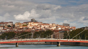 Paysage urbain de Lyon, France Images libres de droits