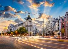 Paysage urbain de Madrid Images libres de droits