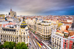 Paysage urbain de Madrid Espagne photos stock
