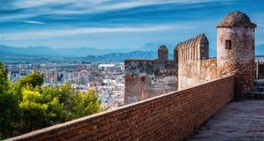 Paysage urbain de Malaga Photographie stock