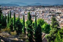 Paysage urbain de Malaga Photos stock