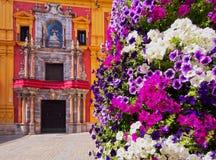 Paysage urbain de Malaga, Espagne Photographie stock libre de droits