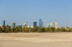 Paysage urbain de Manama, royaume du Bahrain Photographie stock libre de droits