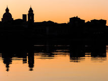 Paysage urbain de Mantova Photo stock