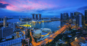 Paysage urbain de Marina Bay Sand Photo stock