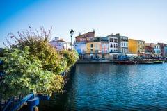Paysage urbain de martigues de Frances photographie stock libre de droits