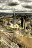 Paysage urbain de Melboure dans HDR Image libre de droits