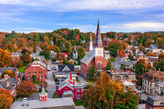Paysage urbain de Montpellier, Vermont Images stock