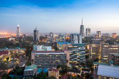 Paysage urbain de Nairobi - capitale du Kenya Photos libres de droits