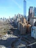 Paysage urbain de New York chez Columbus Circle, NYC Images libres de droits