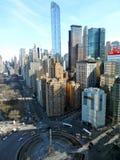 Paysage urbain de New York chez Columbus Circle, NYC Photos libres de droits