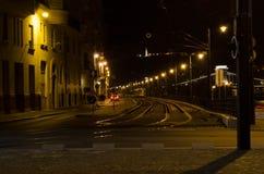 Paysage urbain de nuit à Budapest Image stock