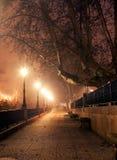Paysage urbain de nuit Photographie stock