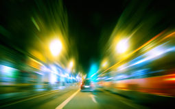 Paysage urbain de nuit Images libres de droits
