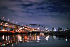 Paysage urbain de nuit Photographie stock libre de droits