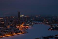 Paysage urbain de nuit d'une taille photo libre de droits
