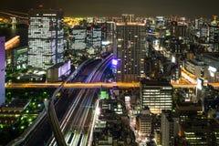 Paysage urbain de nuit de TOKYO Images libres de droits