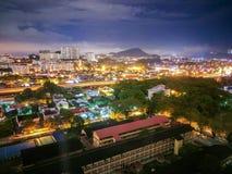 Paysage urbain de nuit, Hall Images libres de droits