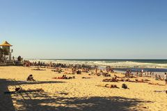 Paysage urbain de paradis de surfers de ville de la Gold Coast Image libre de droits