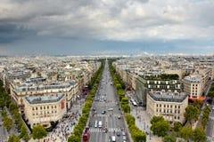 Paysage urbain de Paris images stock