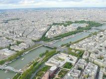 Paysage urbain de Paris Photo stock