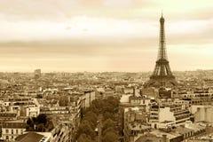 Paysage urbain de Paris France Image stock