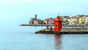 Paysage urbain de Piran Images stock