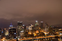 Paysage urbain de Pittsburg Image stock