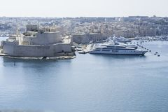 Paysage urbain de port de Malte Photo libre de droits