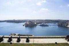 Paysage urbain de port de Malte Images stock