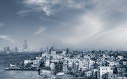 Paysage urbain de port maritime Images stock