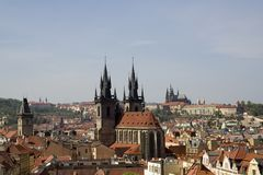 Paysage urbain de Prague Photos stock