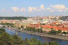 Paysage urbain de Prague images libres de droits