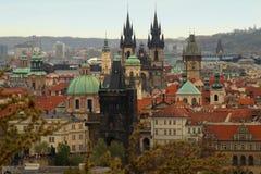 Paysage urbain de Prague, l'Europe Images libres de droits