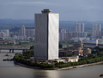 Paysage urbain de Pyong Yang Corée du Nord Photos libres de droits